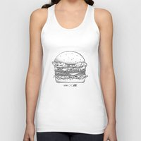 burger Tank Tops featuring Burger by Les Très Tresses