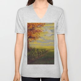 Summer's Sunset Unisex V-Neck