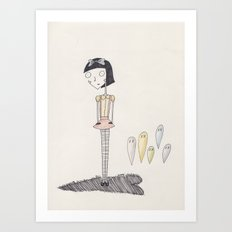 ghost candy. Art Print
