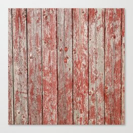 Rustic red wood Canvas Print