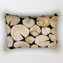 Wood Wall - Streaming Cafe Rectangular Pillow