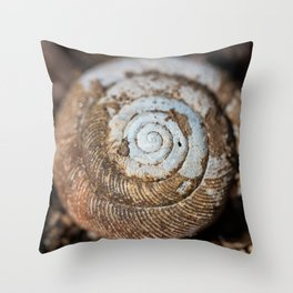 Snail Shell in Macro Throw Pillow