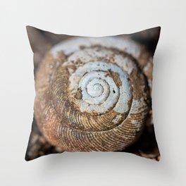 Snail Shell in Macro Throw Pillow