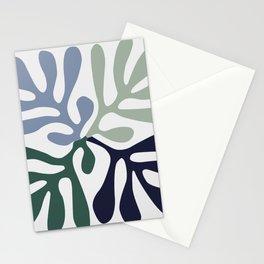 Matisse cutoff - abstract cutoff Stationery Cards