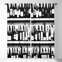 Wine Bottles in Black And White #decor #society6 #buyart Blackout Curtain