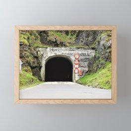Dark tunnel Framed Mini Art Print