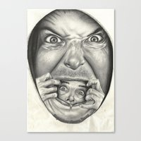 fear Canvas Prints featuring Fear by Magdalena Almero