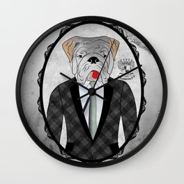 Mr. Dandy - English Bulldog Wall Clock