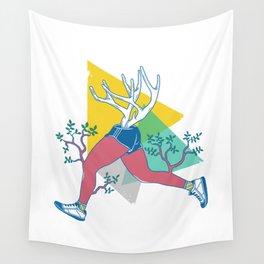 Run like a deer Wall Tapestry