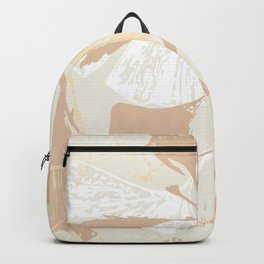 Stamped Gingko Leaves in Wheat Backpack