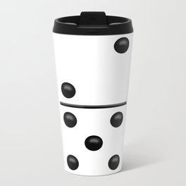 White Domino / Domino Blanco Metal Travel Mug