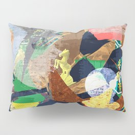 Abstract composition with chess pieces Pillow Sham