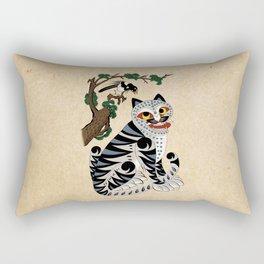 Minhwa: Tiger and Magpie B Type Rectangular Pillow