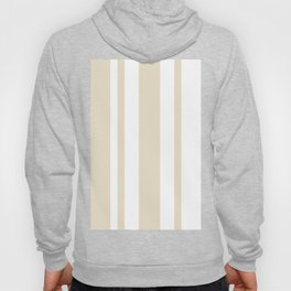 Mixed Vertical Stripes - White and Pearl Brown Hoody