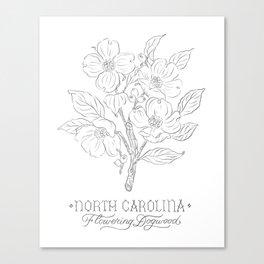 North Carolina Sketch Canvas Print