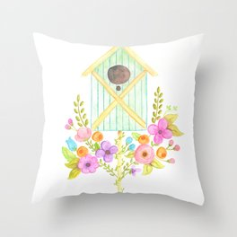 Dreaming of Birdhouses Throw Pillow