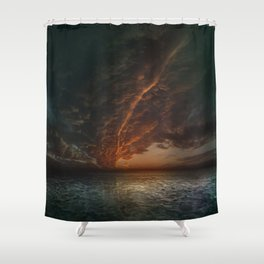 The Mediterranean Sunset Shower Curtain