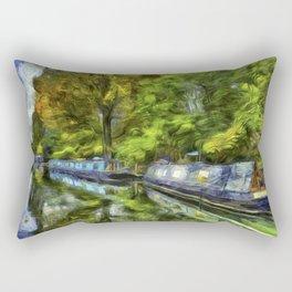 Little Venice London Art Rectangular Pillow
