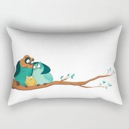 Owls family Rectangular Pillow