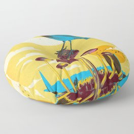 CITY BIRD Floor Pillow