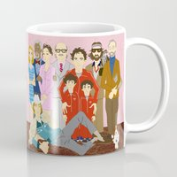 the royal tenenbaums Mugs featuring Royal Tenenbaums Family Portrait  by AnaMF