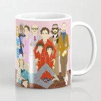 royal tenenbaums Mugs featuring Royal Tenenbaums Family Portrait  by AnaMF
