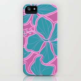 Kailua Hibiscus Hawaiian Sketchy Floral Design iPhone Case