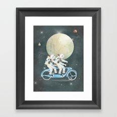 space tandem Framed Art Print