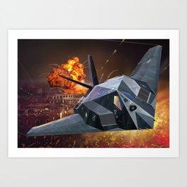 F117 NightHawk Art Print