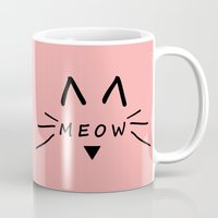 meow Mugs featuring Meow by Cat Attack