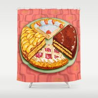 pasta Shower Curtains featuring To each his own by Chicca Besso