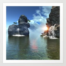 View over the ocean Art Print