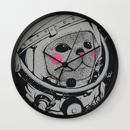 Spaceman cat Wall Clock