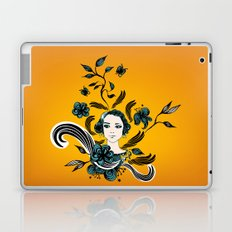 floral girl Laptop & iPad Skin