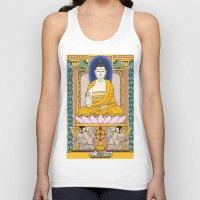 buddha Tank Tops featuring Buddha by Panda Cool