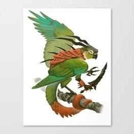 Green-Cheeked Conure Canvas Print