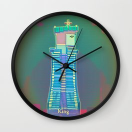 KING / White / Chess Wall Clock
