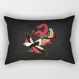 Batik Bird, Indonesian style. Rectangular Pillow