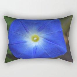 Blue, Heavenly Blue morning glory Rectangular Pillow