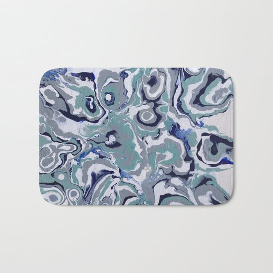 Oysters abstract Bath Mat