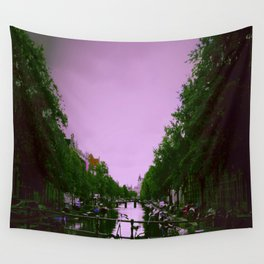 Amsterdam , purple city Wall Tapestry
