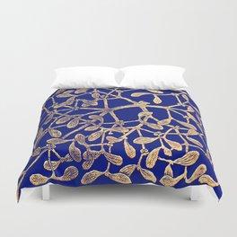Mistletoe Blue Duvet Cover