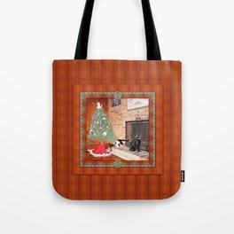 Curious Christmas Cats Tote Bag