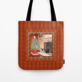 Curious Christmas Cats Tote Bag