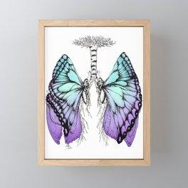 Butterfly Lungs Blue Purple Framed Mini Art Print