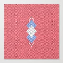 Wool diamonds 01  Canvas Print