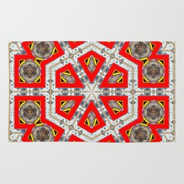 The Red Hexagon Rug