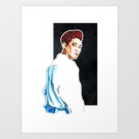 exo Art Prints featuring Chanyeol - Exo Overdose Era by Megan Haering