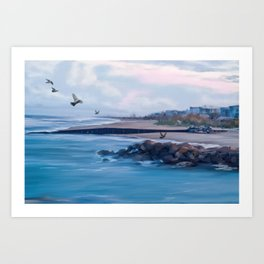 Beach Painting Art Print