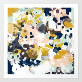 Sloane - abstract painting gender neutral baby nursery dorm college decor Art Print